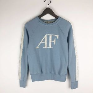 Abercrombie & Fitch Blue Velvet Logo Sweatshirt XS
